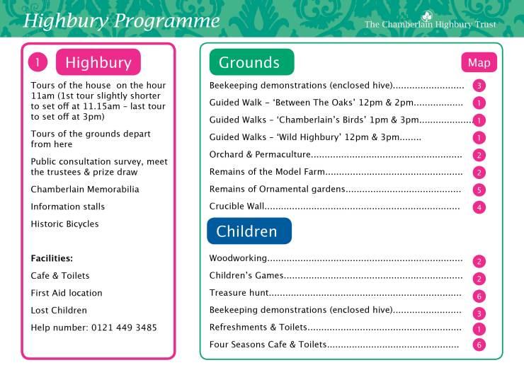 Highbury Map & Programme FINAL2