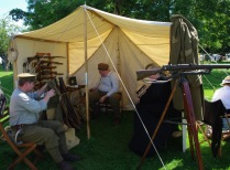 Birmingham Pals display and tent